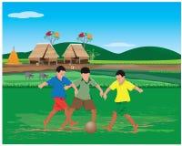 Child play old ball. Design Stock Photos