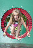 Child play in the park. Kids having summer fun outdoors at the park Royalty Free Stock Photos