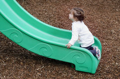 Child play in a playground Royalty Free Stock Photography