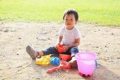 Child play sand stock photo