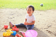 Child play sand royalty free stock images