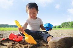 Child play sand Stock Photography