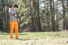 Child play with sling toy Stock Image