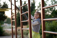 Child on playground stock image