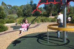 Child at playground stock image