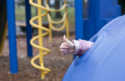 Child on playground Royalty Free Stock Image
