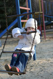 Child on playground. Merry child on playground, springtime Stock Photography