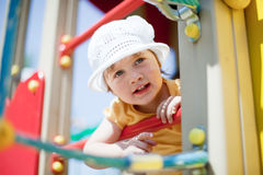 Child in playground area Royalty Free Stock Photography