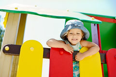 Child on the playground Royalty Free Stock Image