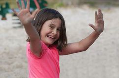Child at playground Royalty Free Stock Photo