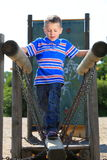 Child in playground, kid in action playing Royalty Free Stock Images