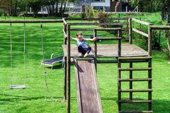 Child on a playground Royalty Free Stock Image