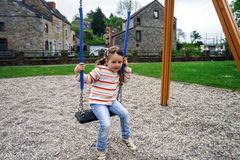 Child on a playground Royalty Free Stock Photos
