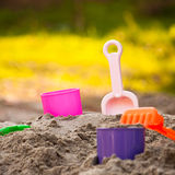 Sand Pail and Shovel Royalty Free Stock Photography