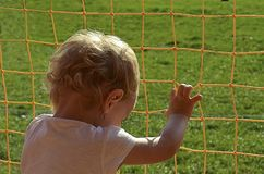 The child that wants to break free Stock Photo