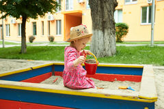 Child on playground in summer park Stock Photography