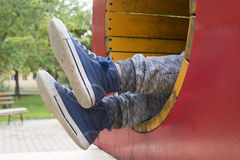 Child in playground Stock Images