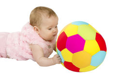 Child playing with a ball Royalty Free Stock Photography