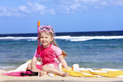 Child playing on  beach. Stock Photography