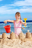 Child playing on  beach. Royalty Free Stock Photography