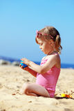 Child playing at the beach Royalty Free Stock Photography