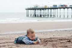 Child playing beach Stock Photo