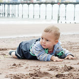 Child playing beach Royalty Free Stock Image