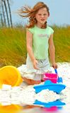 Child playing in Beach Sand Royalty Free Stock Image