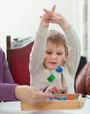 Child playing blocks Stock Photos