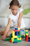 Child playing with blocks Royalty Free Stock Photo