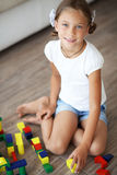 Child playing with blocks Stock Photos