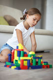 Child playing with blocks Royalty Free Stock Images