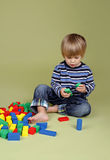 Child Playing with Blocks Royalty Free Stock Image
