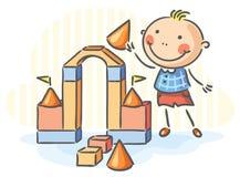 Child playing royalty free illustration