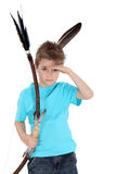 Child playing bow and arrows Royalty Free Stock Photography