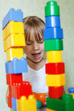 Child playing with constructor Stock Photos