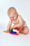 Child playing in the constructor Stock Images