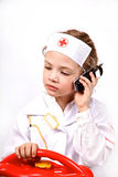 Child playing a doctor Royalty Free Stock Photography