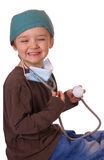 Child playing doctor Royalty Free Stock Photo