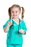Child playing doctor Stock Image