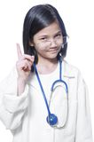 Child playing doctor Stock Photos