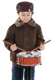 Child playing the drum Royalty Free Stock Photography