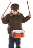 Child playing the drum Royalty Free Stock Photos