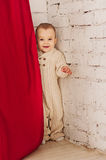 Child playing hide and seek Royalty Free Stock Photos