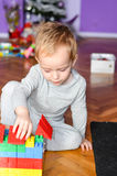 Child playing at home Royalty Free Stock Image