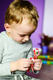 Child playing  at home Stock Photography