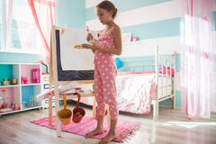 Child playing at home royalty free stock photo