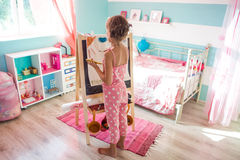 Child playing at home Royalty Free Stock Images