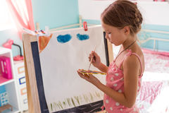Child playing at home Royalty Free Stock Photography