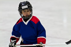 Child playing ice hockey Royalty Free Stock Photo